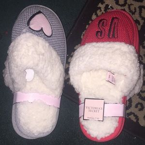 Victoria secret slippers RED